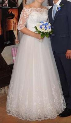 Suknia ślubna Afrodyta Yes Bolerko Welon Koło 6976240567