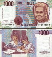# WŁOCHY - 1000 LIRÓW - 1998 - P-114c - UNC