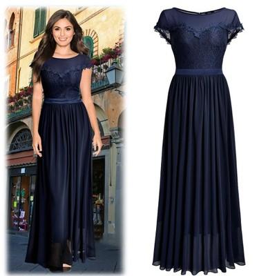 e3c6112b90 sukienka długa maxi koronkowa rozmiar 44   XXL - 6779114980 ...