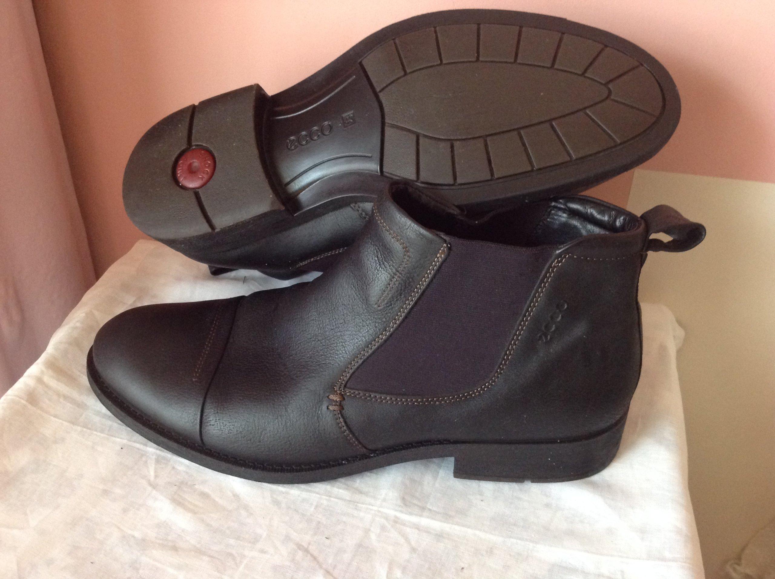 Ecco jesienno zimowe buty r.43 w-28.5cm skóra nat.