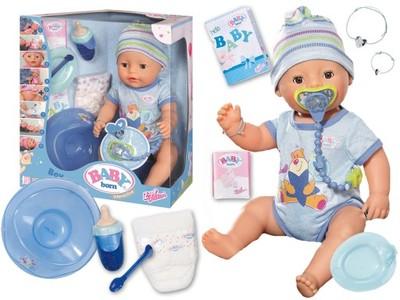 Lalka Baby Born Interaktywna Chłopiec Boy Zapf