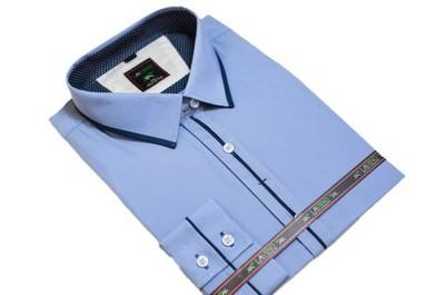 6d21000ac71c36 51/52 DUŻA koszula męska kolor niebieski indygo - 6501759803 ...