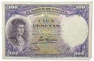 32.Hiszpania, 100 Peset 1931, P.83, St.3-
