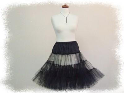 585a53b8 Halka tiul czarna lata 50-te petticoat - 60 cm