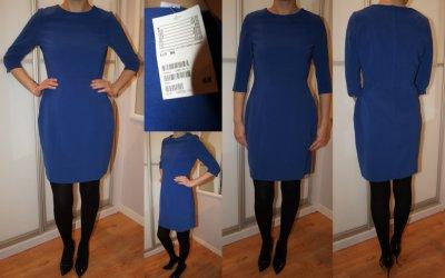 3be3da3483 NOWA Super chabrowa sukienka H M - 6056588643 - oficjalne archiwum ...