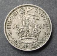 Wlk. Brytania - 1 Szyling 1948