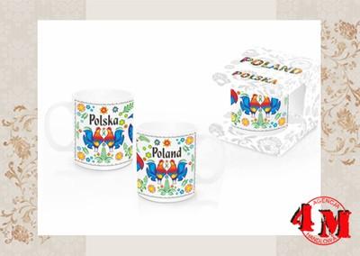 Kubek folk folkowy kogut Polska prezent