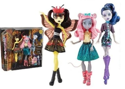 Monster High Boo York 3 Nowe Luna Elle Mouscedes 7005604507 Oficjalne Archiwum Allegro