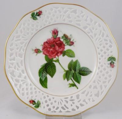 SCHUMANN ażurowy talerz dekoracyjny róże nr 10