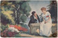 Kobieta mężczyzna zakochani Czerwony Krzyż (1917)