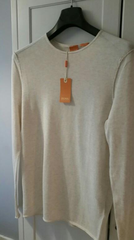 Sweter longsleeve Boss Orange rozmiar M slim fit
