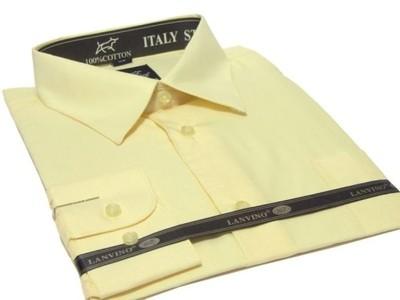 4041 Elegancka koszula męska KREMOWA ecru modna  AUsiO