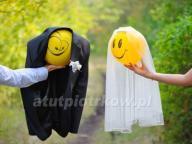 100x Balony z Helem MEGA PUDŁO Prezent Ślub WESELE