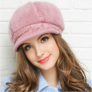 f2eb9ab54498 Czapka damska zimowa z daszkiem Beanie kapelusz - 5782585594 ...