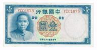Chiny, 1yuan 1937 rok, Bank Chiński, st. 1-