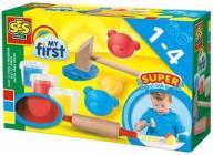 Zestaw pierwsza ciastolina - 3 kolory + narzędzia