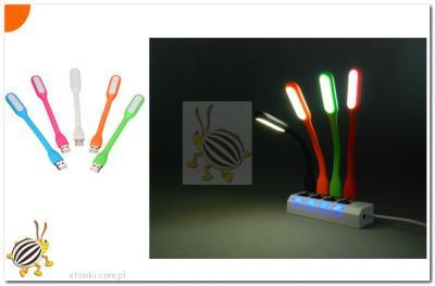 LAMPKA SILIKONOWA USB DO LAPTOPA 6 LED CZARNY