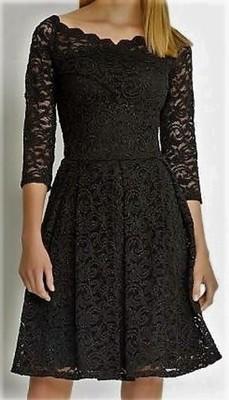 dfd106e1d999f Czarna połyskująca koronkowa sukienka Orsay - 6819418160 - oficjalne ...