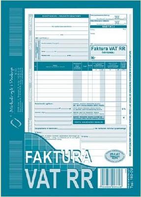Faktura Vat Dla Rolników Rr 185 3 Nowy Wzór 5804788293 Oficjalne