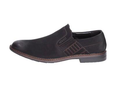 czarne buty męskie mokasyny nowacki dmm16_17