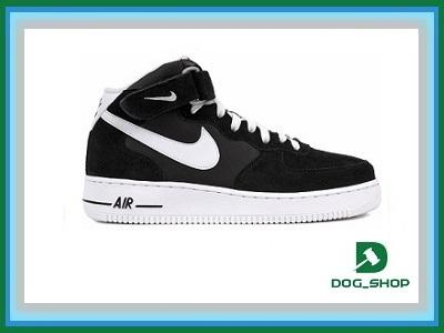 nike air force 1 mid black white allegro