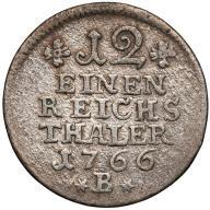 324. Prusy 1/12 talara 1766-B st.3-