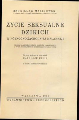Życie seksualne dzikich - Malinowski - 1938