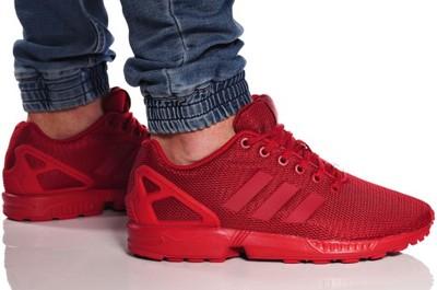 zx flux męskie czerwone
