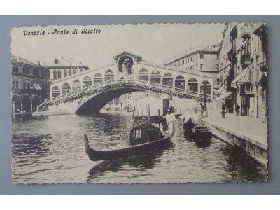 VENEZIA Ponte di Rialto WENECJA most PRZEDWOJENNA