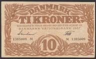 Dania - 10 koron - 1937 - seria     M