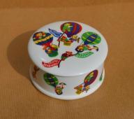 Ekskluzywne PUZDERKO z porcelany - TEDDY BEARWAYS