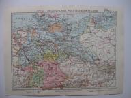 NIEMCY DEUTSCHLAND Mapa Rok 1935