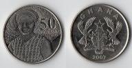GHANA 50 PESEWAS 2007