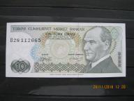 85. Banknot Turcja  10 Lirasi   UNC