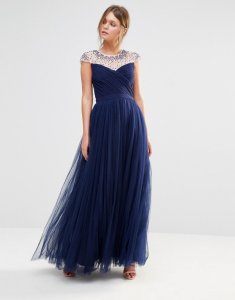 LITTLE MISTRESS sukienka MAXI zdobiona XXL 44