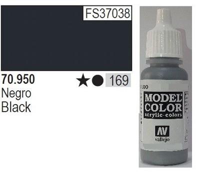 Black 169 Farbka Vallejo Model Color