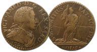 23.SARDYNIA, VIC.AMADEUSZ III, 5 SOLDI 1795
