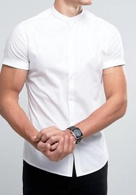 koszula exASOS Skinny stójka casualowa M