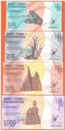 MADAGASKAR - 100,200,500,1000 ARIARY - 2017 - UNC