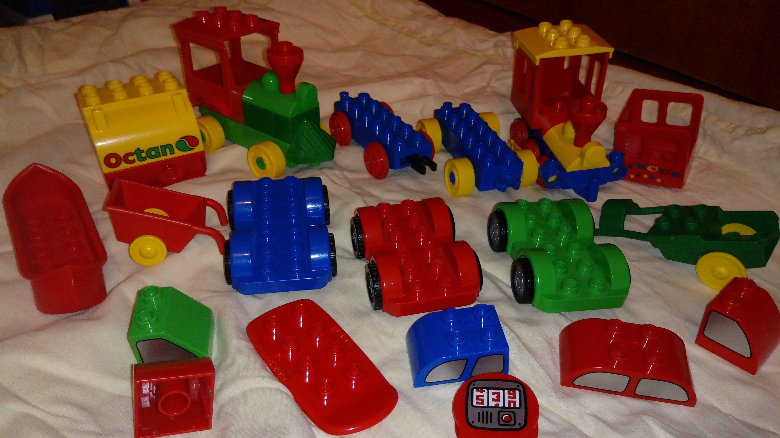 Klocki Lego Duplo Pojazdy Pociąg Kreatywne Auta 7038502572