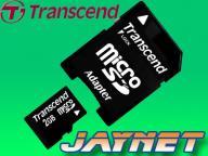 TRANSCEND 2 GB micro SD microSD 2GB + adap SD ! FV
