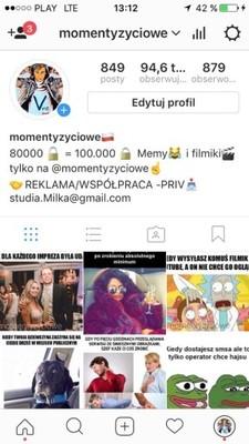 Sprzedam Konto Na Instagramie 95k Obserwujacych 6827398274 Oficjalne Archiwum Allegro