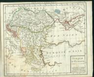 MAPA TURCJI Z XVIII WIEKU P.F. TARDIEU.