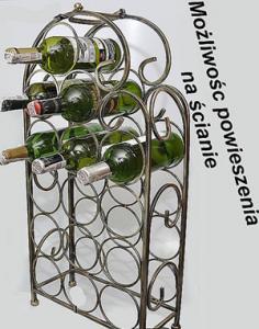 Kuty Stojak regał wino 15 but wina prezent na ślub