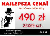 WIZYTÓWKI 20000 szt. / KREDA 350 g