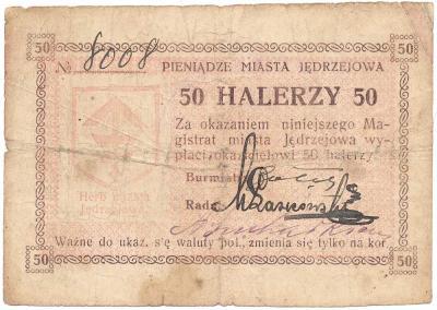 648. Jędrzejów 50 halerzy, st.5+