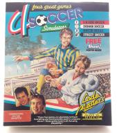 C64/128 4 Soccer Simulators BOX Kaseta CodeMasters