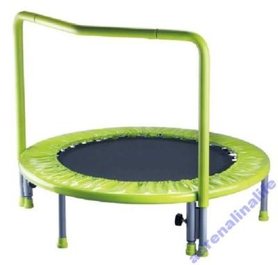 Cudowna Mini trampolina dla dzieci z uchytem poręczą. - 5866441839 PB66