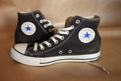 CONVERSE 39,5 25 cm trampki czarne 6 12 all star