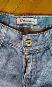 Spodnie jeansy levi's LEVIS 570 straight fit 28 32